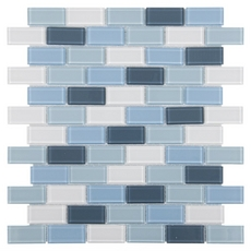 Marsala Multi Finish Brick Glass Mosaic
