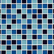 Blue 1 in. Square Glass Mosaic