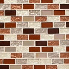 Agrigento 1 x 2 in. Brick Glass Mosaic