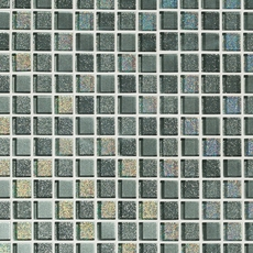 Gray Square Mix Crystal Glass Mosaic