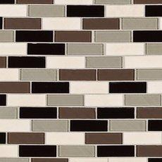 Stone Henge Modern Polished Brick Glass Mosaic
