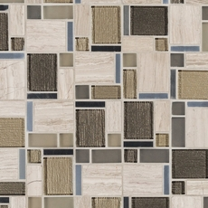 Montage Stone Matrix Modern Polished Glass Mosaic
