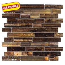 Clearance! Reflections Natural Linear Glass Mosaic