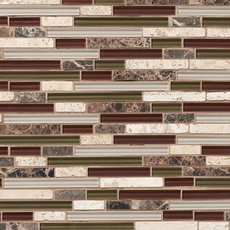 Cabernet Linear Glass and Stone Mosaic