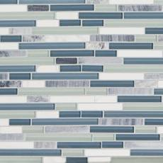 Waterfall Linear Glass and Stone Mosaic