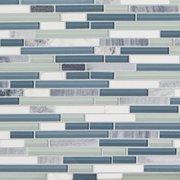 Waterfall Linear Glass and Stone Mosaic