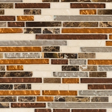 Bogota Linear Mix Glass and Stone Mosaic