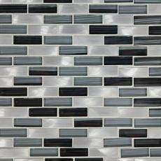 Barbados Brick Glass and Metal Mosaic