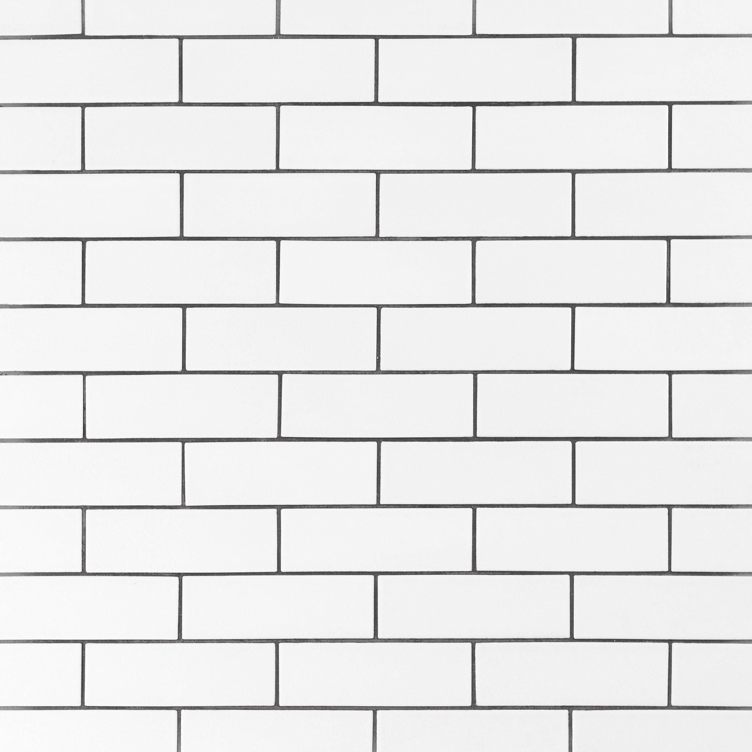 Bright White Ice Subway Ceramic Wall Tile 3 x 6 914100887