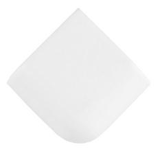 Bright White Ice Ceramic Corner Mud Cap