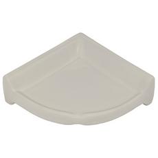 White Large Ceramic Corner Shelf