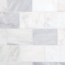 Carrara White Polished Marble Tile