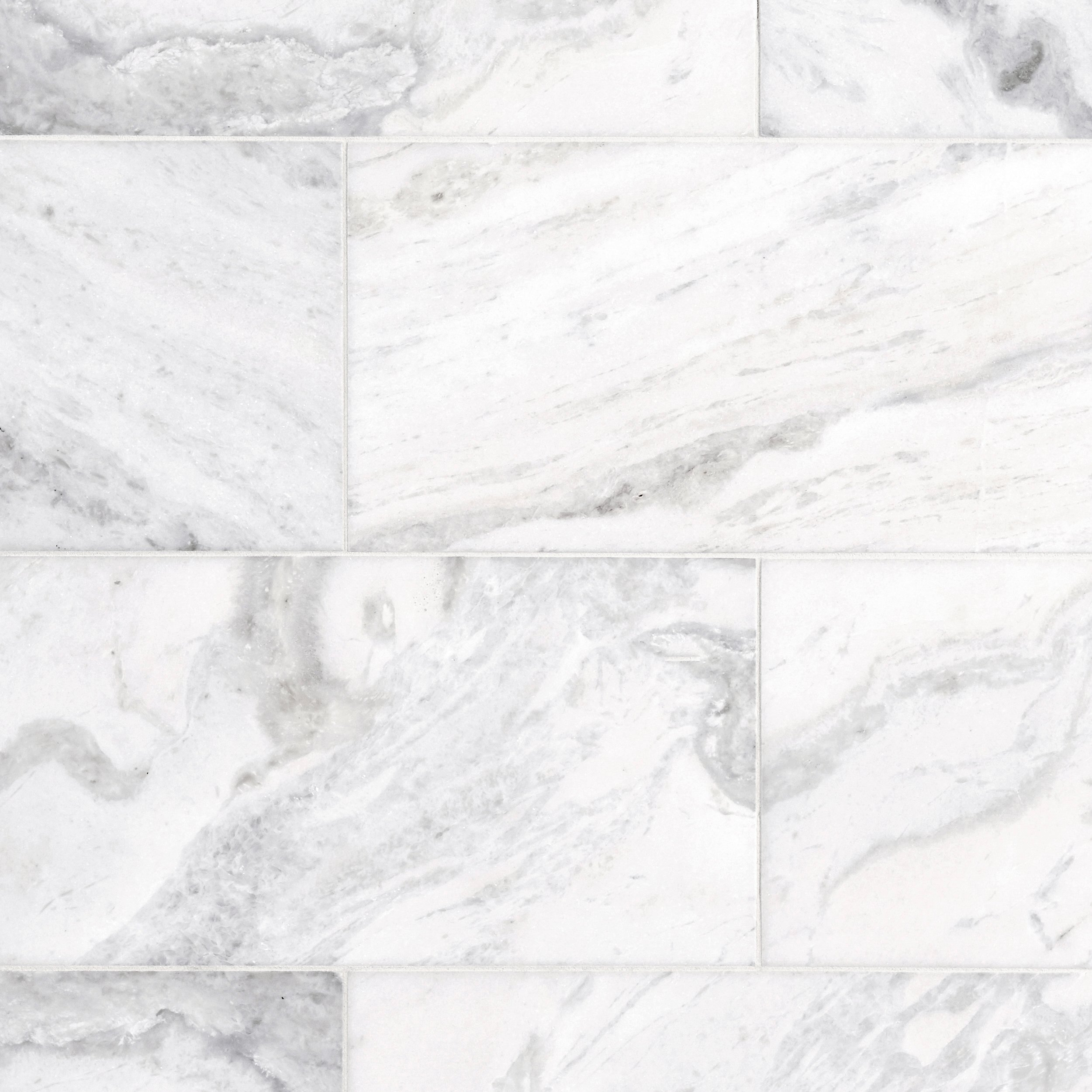 Bianco Carrara Marble Tile 12 X 12 100087832 Floor And Decor