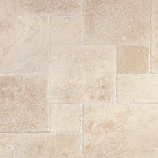 Troia Ivory Brushed Chiseled Travertine Tile