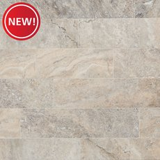New! Argento Brushed Travertine Tile