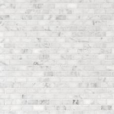Bianco Carrara Brick Marble Mosaic