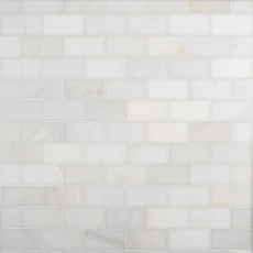 Carrara White Honed Marble Tile