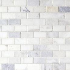 Carrara White Brick Marble Mosaic