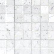 Bianco Carrara Polished Marble Mosaic