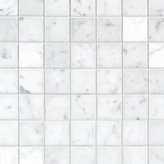 Bianco Carrara Polished Marble Mosaic