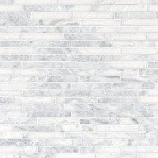 Sahara Carrara Linear Marble Mosaic