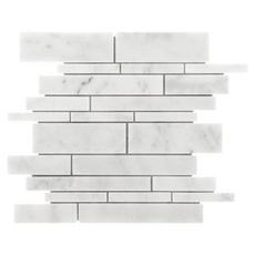 Carrara Milano Linear Marble Mosaic