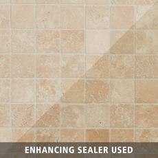 Crema Antiqua Tumbled Travertine Mosaic