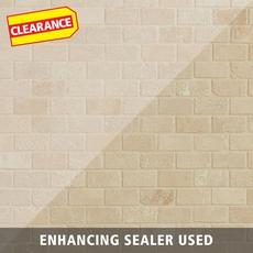 Clearance! Crema Antiqua Tumbled Brick Travertine Mosaic