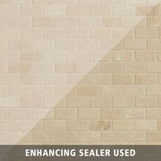 Crema Antiqua Tumbled Brick Travertine Mosaic