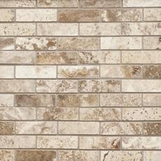Camila Polished Brick Travertine Mosaic