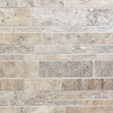 Argento Brushed Stick Travertine Mosaic