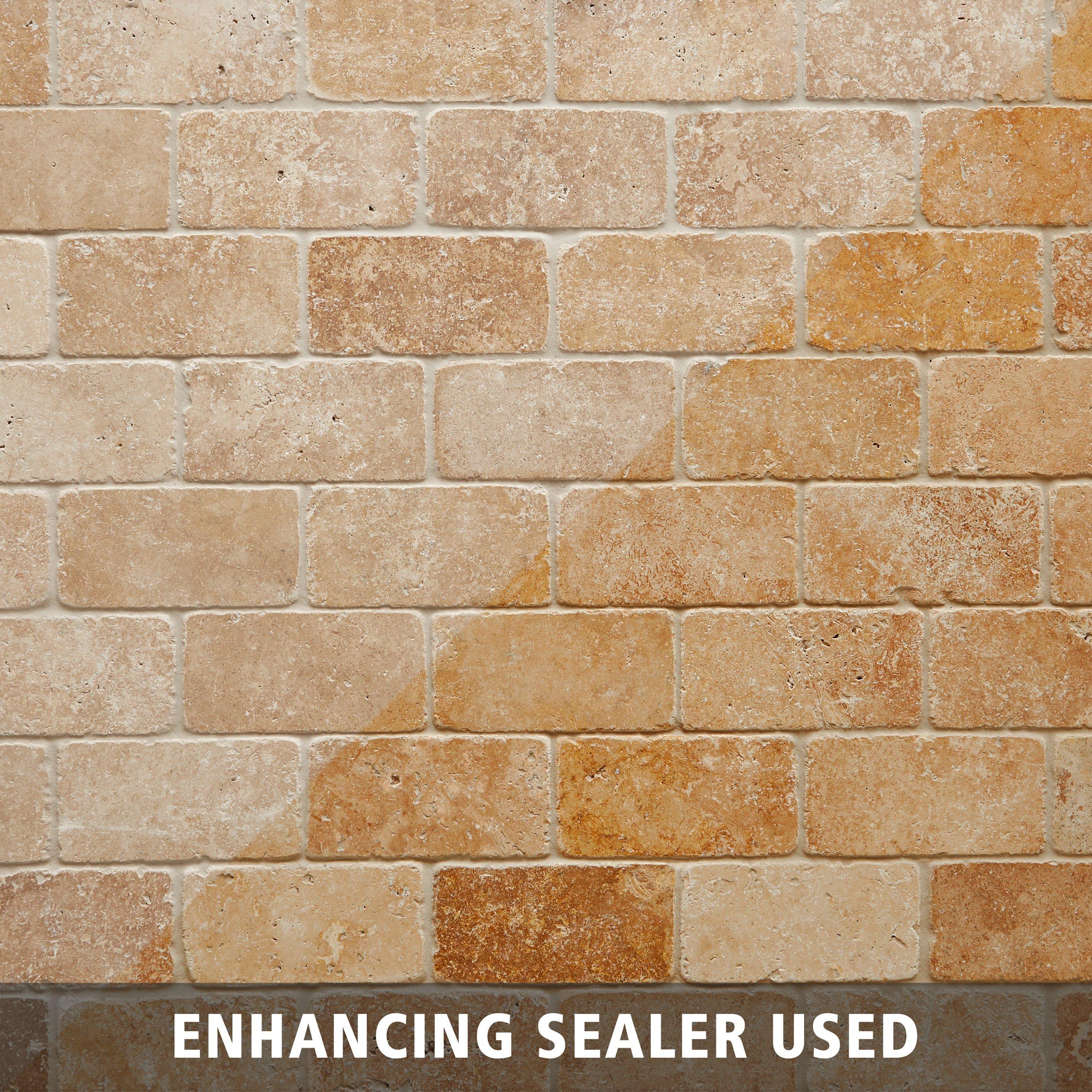 Noce Tumbled Travertine Tile 6 X 6 932100268 Floor