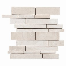 Savona Ivory Brushed Travertine Mosaic