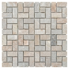 Golden Harvest Pinwheel Slate Mosaic