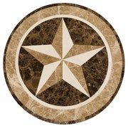 Texas Star Waterjet Marble Medallion