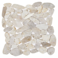 Gray Flat Pebble Stone Mosaic