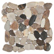 Multi Flat Matte Pebblestone Mosaic