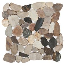 Multi Flat Pebblestone Mosaic