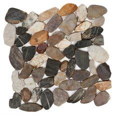 Multi Flat Polished Pebble Mosaic