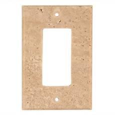 Light Beige Travertine Single Rocker Switch Plate