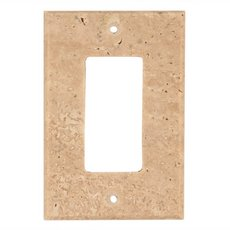 Light Beige Travertine Single Rocker Switch Plate