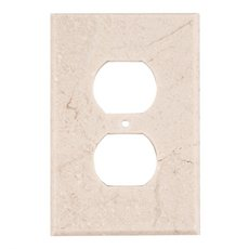 Crema Marfil Marble Outlet Plate