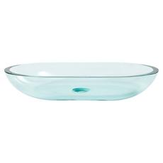 Square Basin Glass Vessel Sink