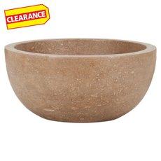 Clearance! Noce Round Travertine Sink