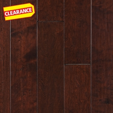 Clearance! Brown Birch Hand Scraped Engineered Hardwood