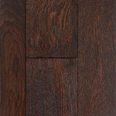Mocha Oak Wire Brushed Locking Solid Hardwood