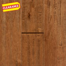 Clearance! Cognac Maple Hand Scraped Solid Hardwood