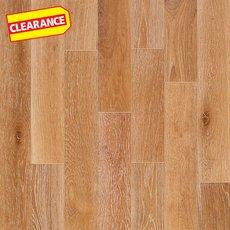 Clearance! Nougat Oak Wire Brushed Solid Hardwood