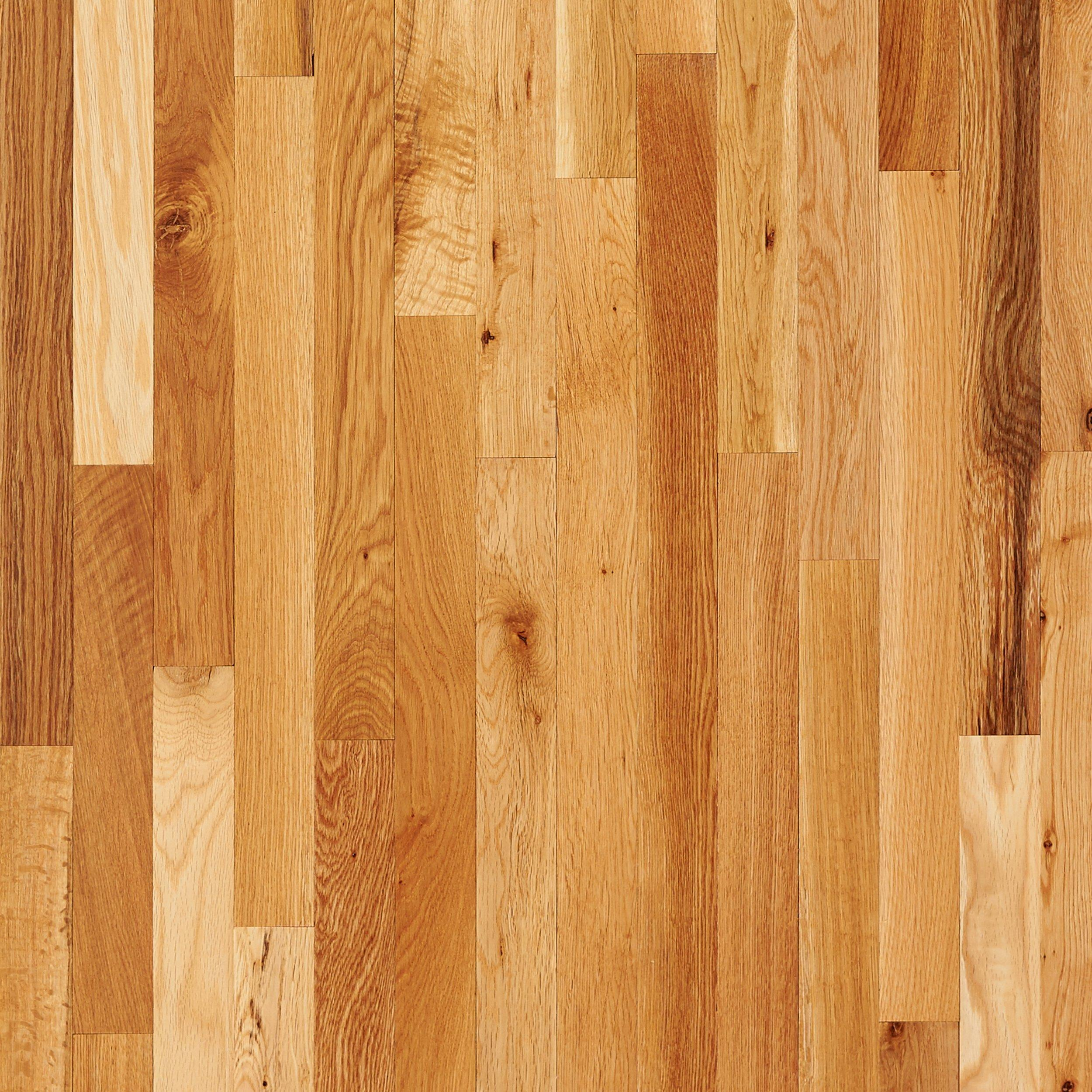 Charmant Natural Oak Smooth Solid Hardwood