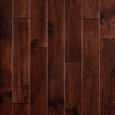 Acacia Varria Hand Scraped Solid Hardwood - color Blk Wlnt